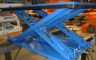 Low closed scissor lifting platform for industry