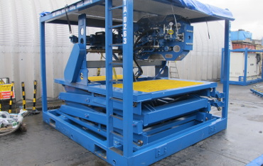 Off-shore portable scissor lift table for industry